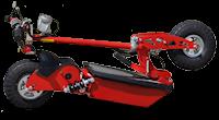 piros elektromos roller összecsukható